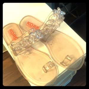 Kors clear sandals